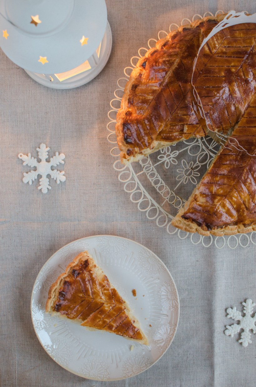 On 6th January, people in France eat Galette des rois (King Cake) which is basically a puff pastry cake with an almond filling containing a baked in bean.