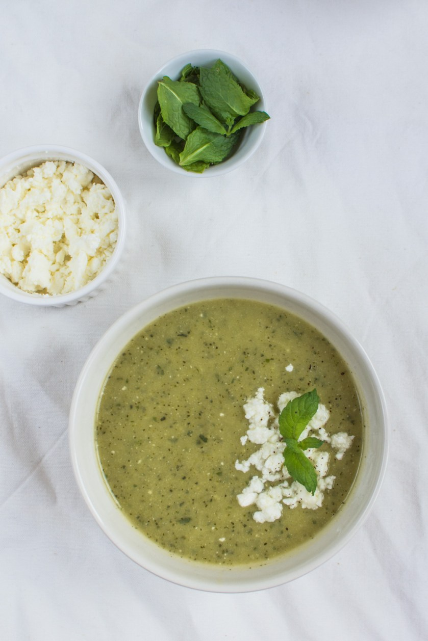 This simpleSummery Zucchini Mint Feta Soup will simply surprise you! What I love about it is that it is delicious both when served warm or cold.