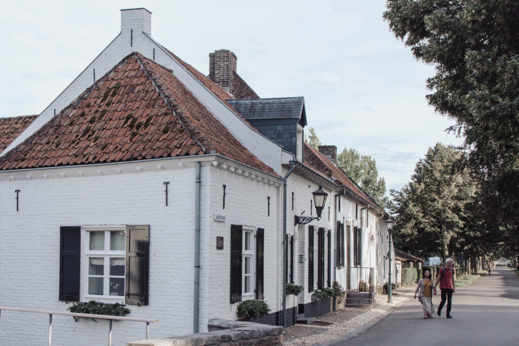 Thorn is a little pretty town in the South of the Netherlands and it's quite unusual Dutch town - with houses and buildings in the center painted white.