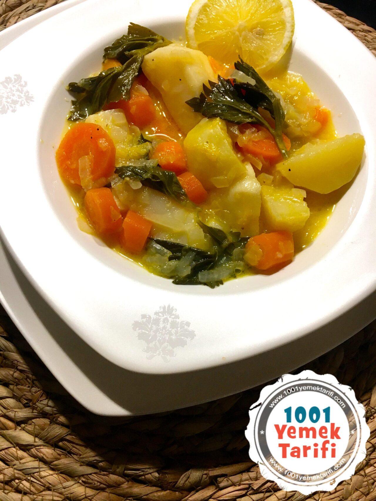 Portakallı Kereviz Yemeği Tarifi-nasıl yapılır-zeytinyağlı kış yemekleri