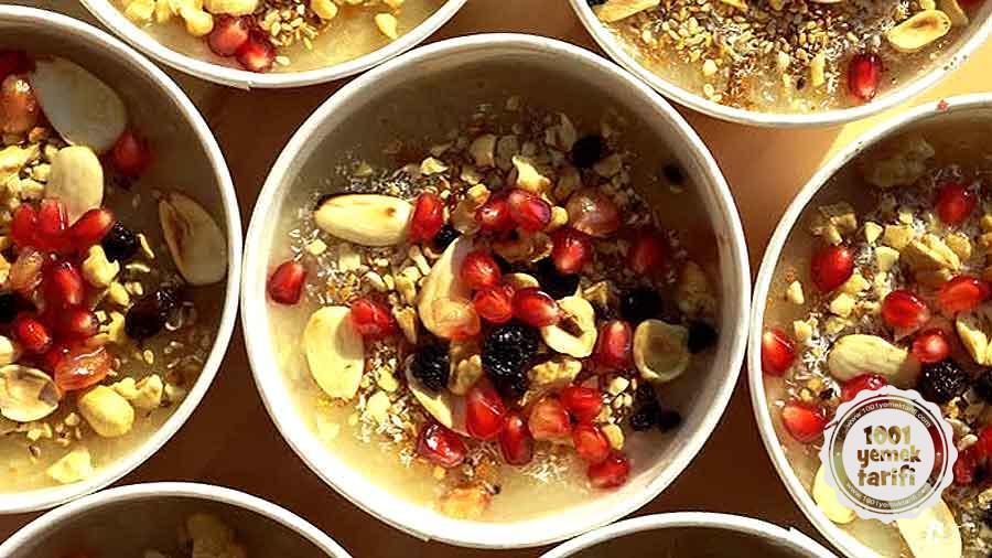 Nefis Asure Tarifi-Asure Nasil Yapilir-Malzemeleri-Kac kalori-besin degerleriyle-1001yemektarifi