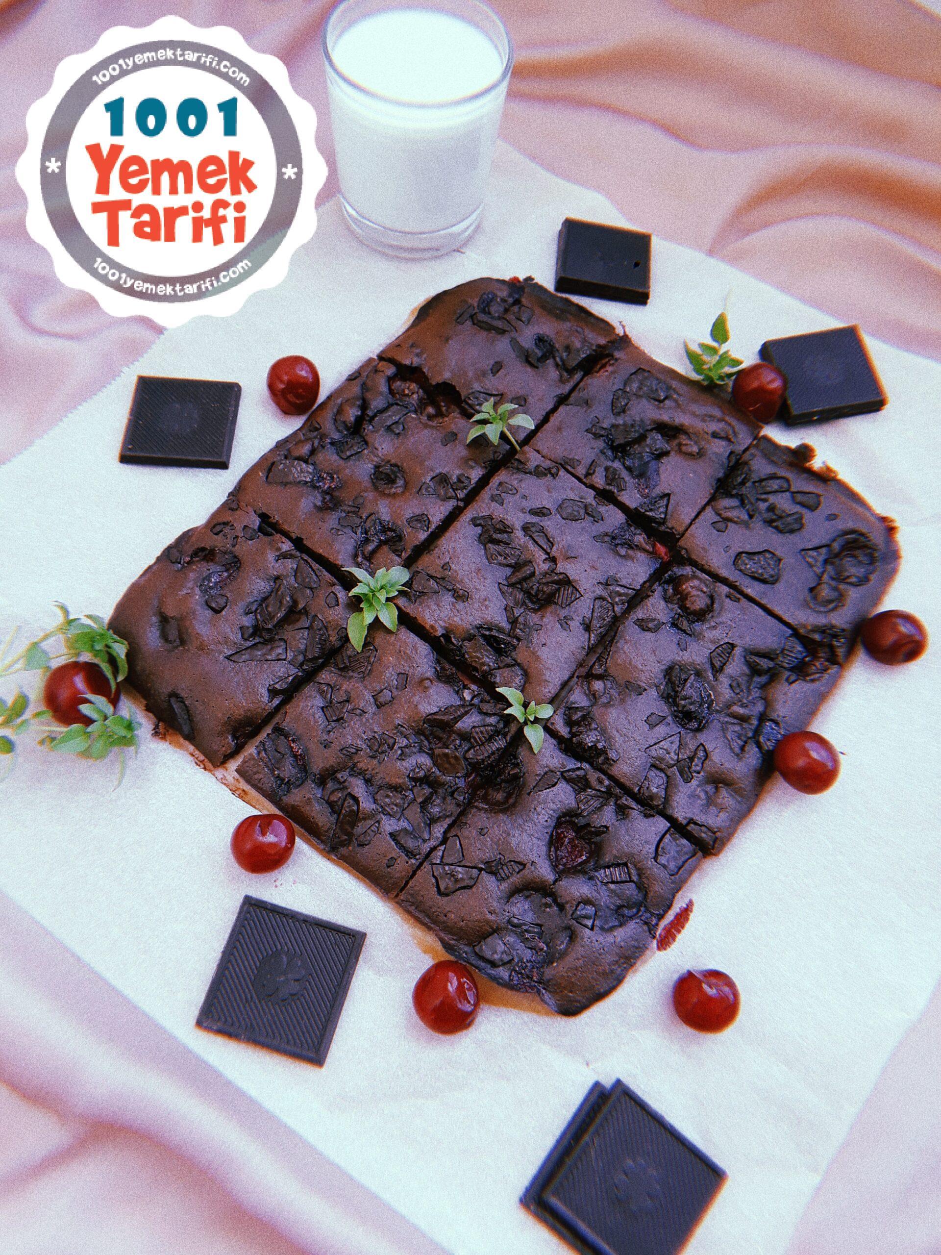 Vişneli Brownie Tarifi nasıl yapılır-kaç kalori-ev yapımı