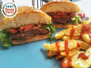 Hamburger Tarifi-ekmeği ve köftesi nasıl yapılır-kaç kalori