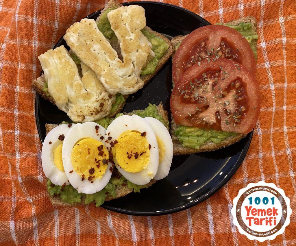 diyet kahvaltı tarifi nasıl yapılır-fit kahvaltı yapımı-avokadolu-peynirli-yumurtalı