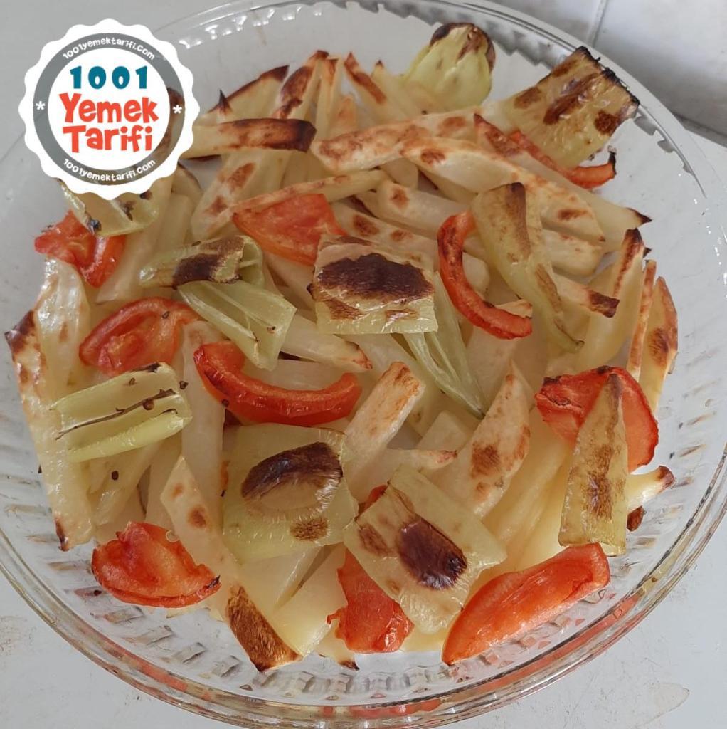 Yağsız Fit Kızartma Tarifi-fırında patates soğan