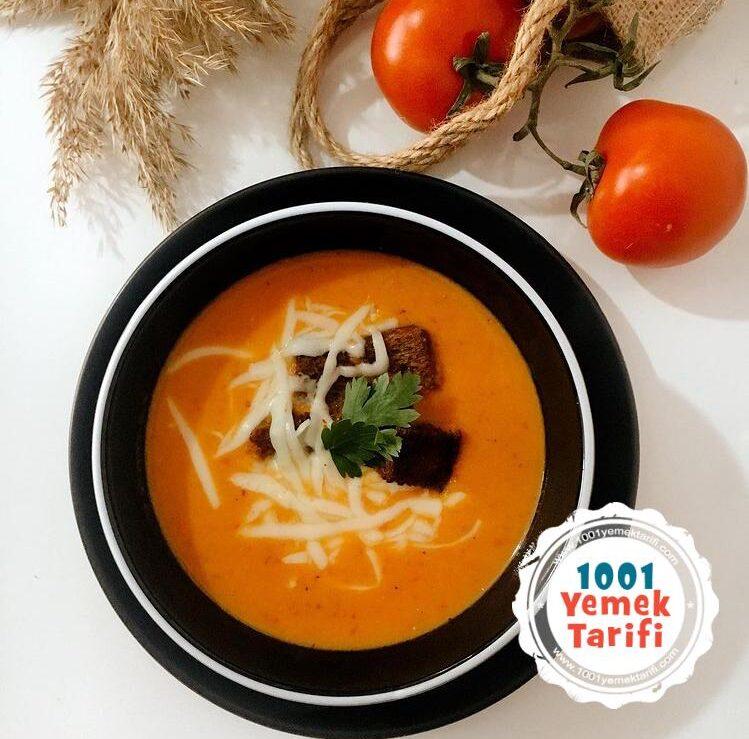 Közlenmiş domates çorbası nasıl yapılır-kolay tarifi