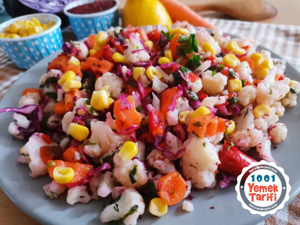 Zeytinyağlı Karnabahar Salatası Tarifi