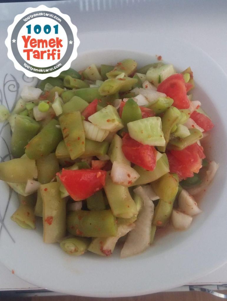 Taze Fasulye Salatası tarifi nasıl yapılır