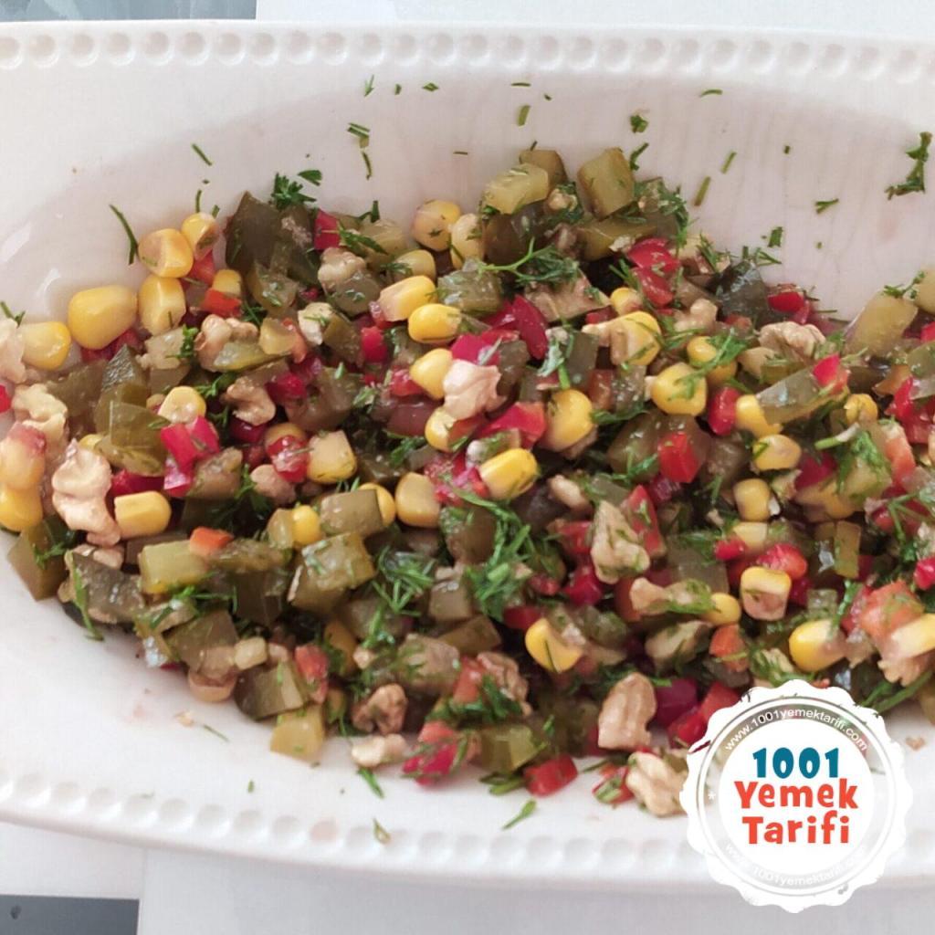 Cevizli Dereotu Salatası Tarifi-diyet-vejetaryen