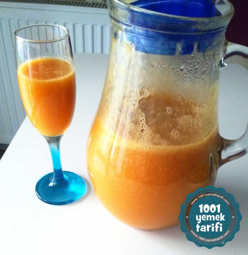 ev yapimi kolay meyve suyu tarifi-seftali suyu yapimi nasil yapilir-puf noktasi-1001yemektarifi