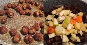 güveçte sebzeli köfte tarifi