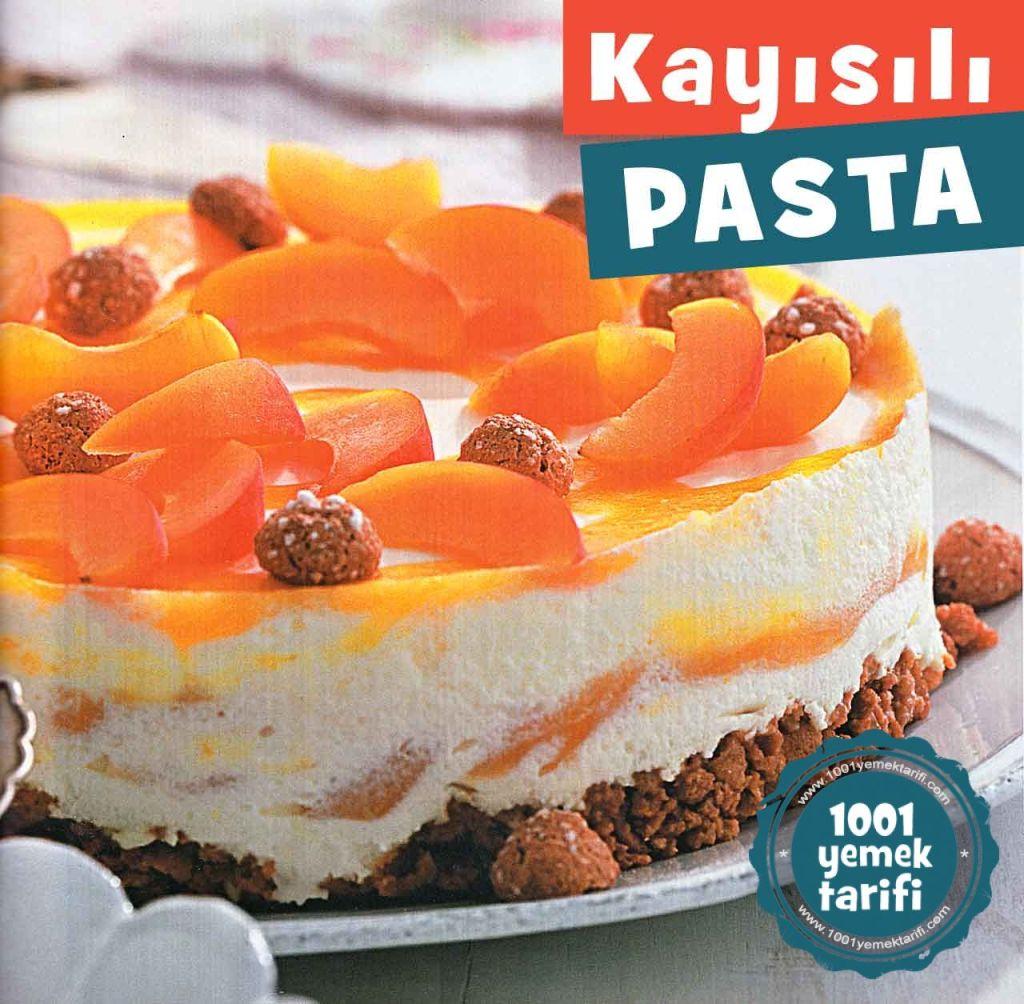 kayisili Pasta Tarifi-Kolay Yas Pasta Tarifleri-nasil yapilir-yapimi-yapilisi-kac kalori-kolay ev yapimi meyveli pasta tarifleri-nefis-1001yemektarifi