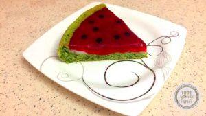 kolay kek tarifi-karpuz-gorunumlu-kek-tarifi-puf noktasi-ev-yapimi-nefis-kek-tarifleri