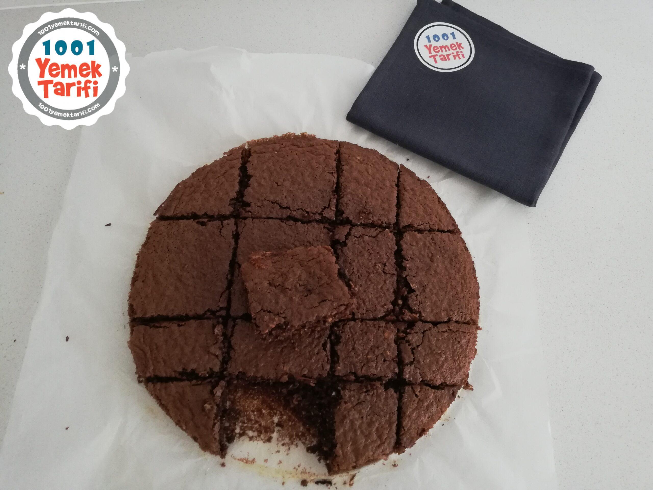 şekersiz fit brownie