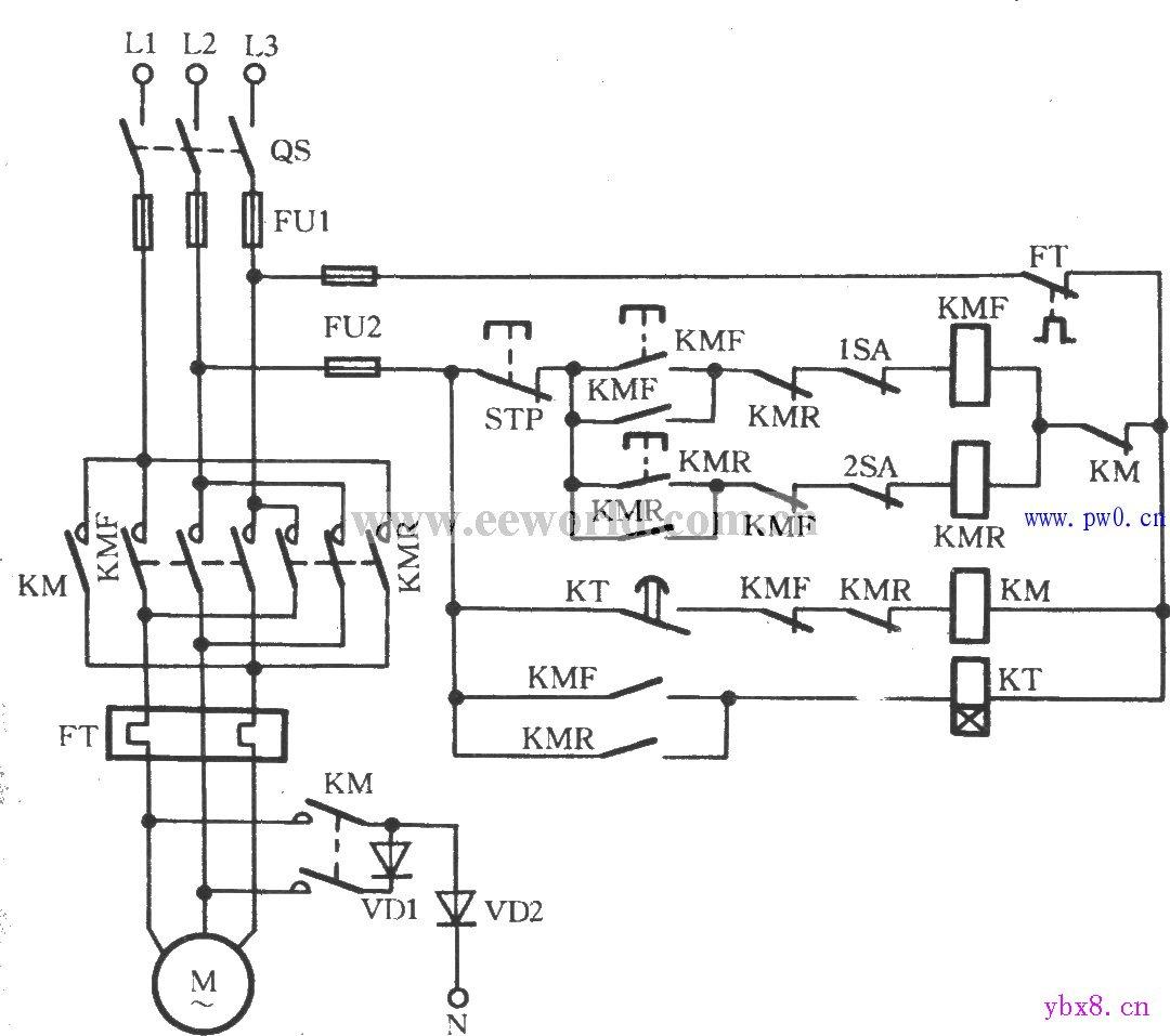 电动机制动控制电路图_电工基础知识_电工技术-电工最常见电路
