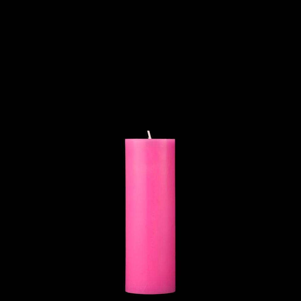 2x6 Hot Pink Pillar Candle