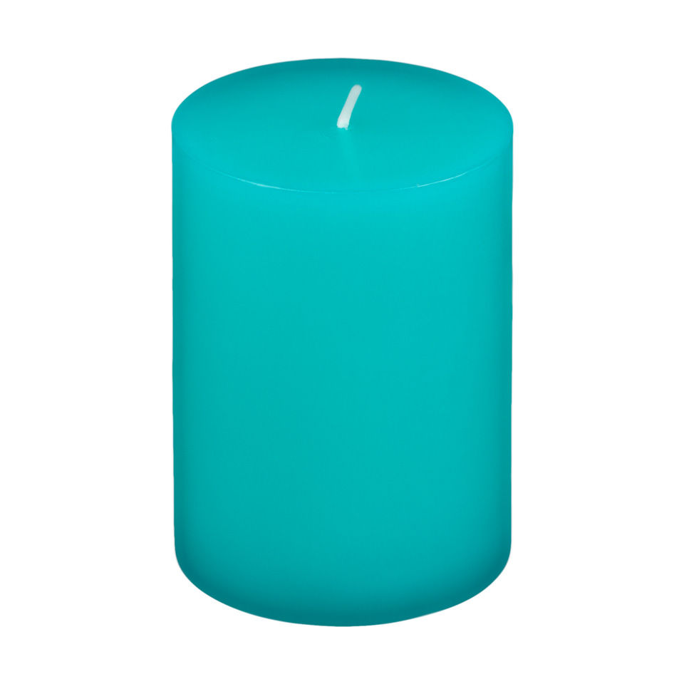 3x4 Turquoise Pillar Candle