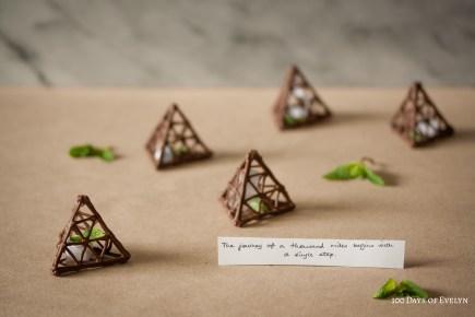 Chocolate Fortune Pyramids