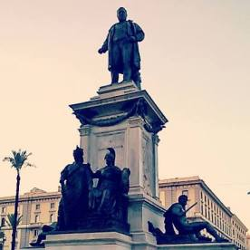 Piazza Cavour at sunset