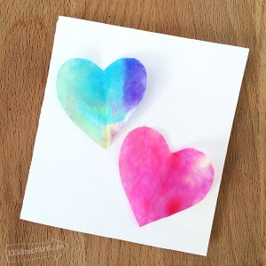 easy watercolor cards heart valentines crafts quick valentine card craft balm eos lip fun