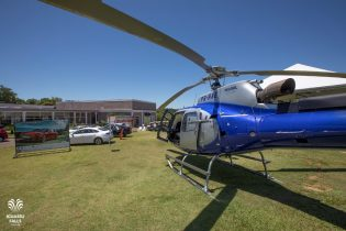 Geral do Iguassu Falls Golf Club, passeios de helicóptero para os participantes foi oferecido pela Helisul Aviação