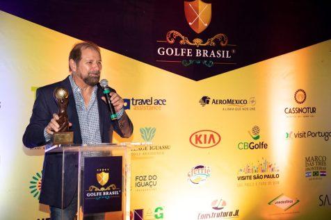 Guilherme Paulus na abertura do coquetel da última etapa do Golfe Brasil Torneio 2019