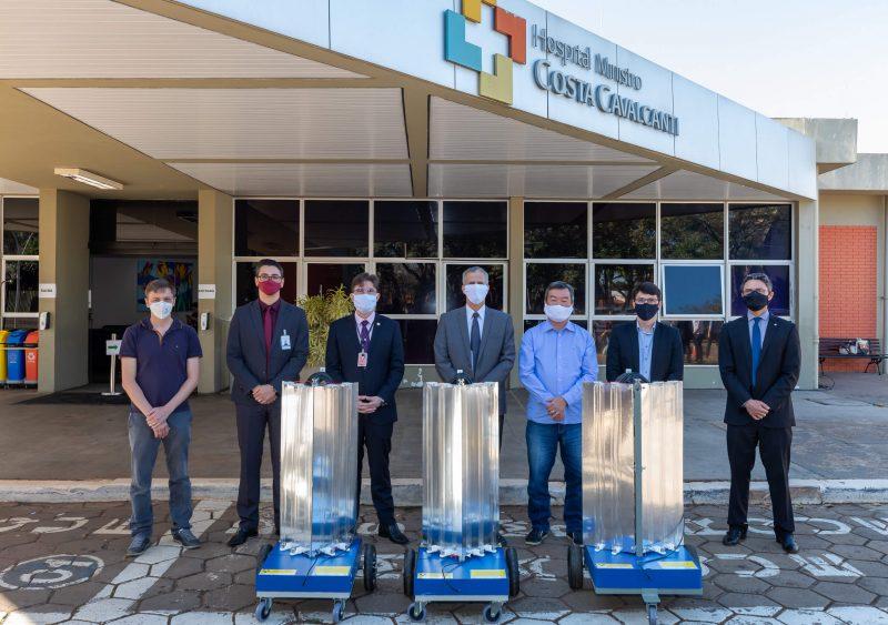 Itaipu-PTI-Unioeste-entregam-robôs-para-hospitais-desinfecção-ambientes
