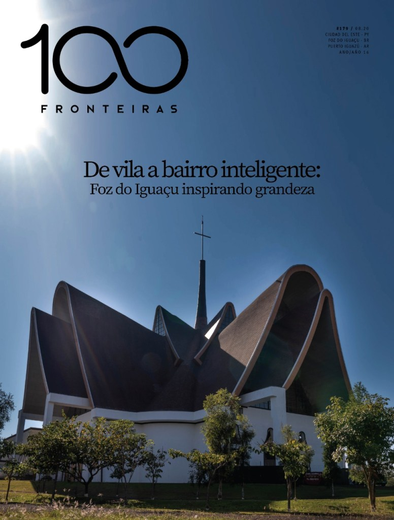 Revista 100fronteiras edição de agosto 179, na capa a Catedral da Vila A