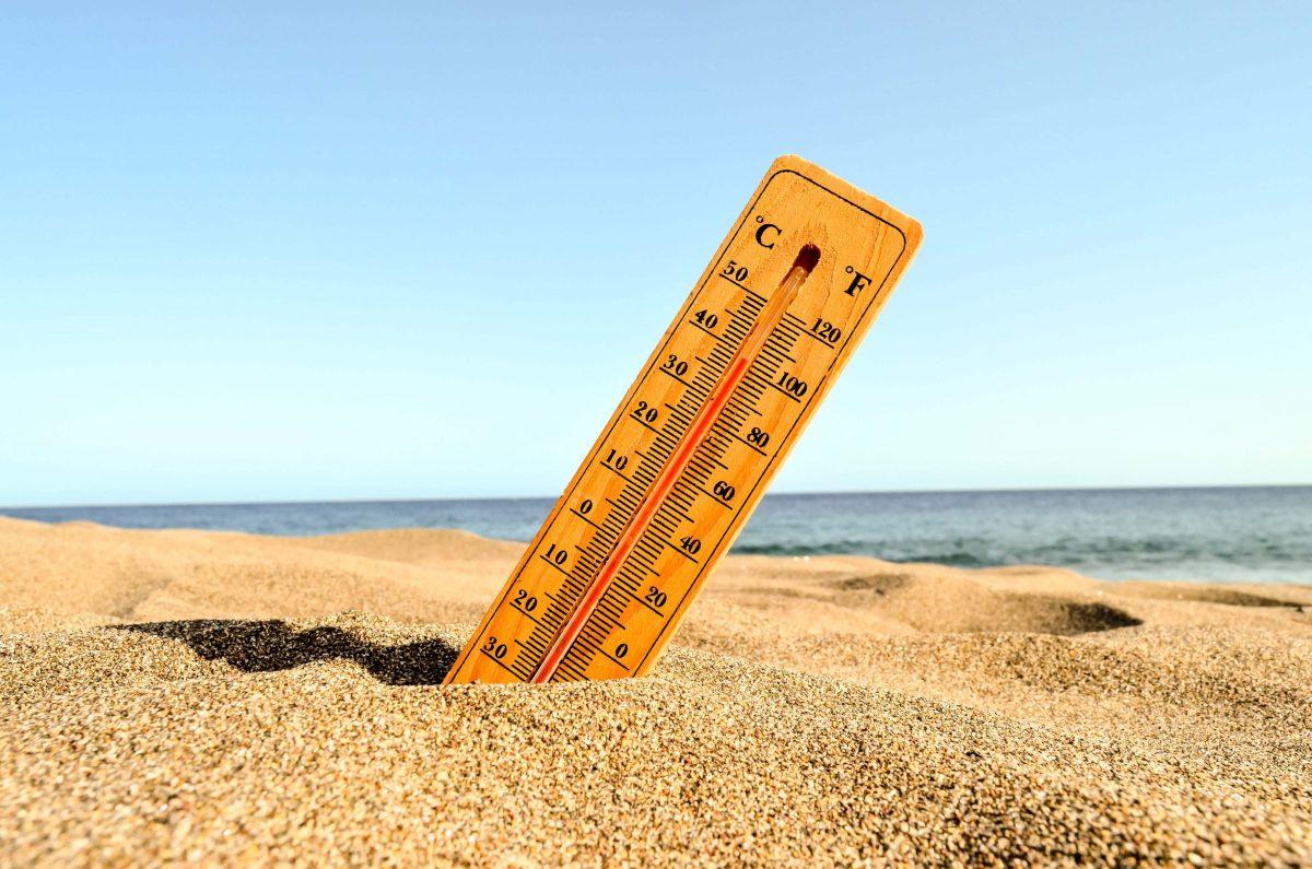 termômetro na praia