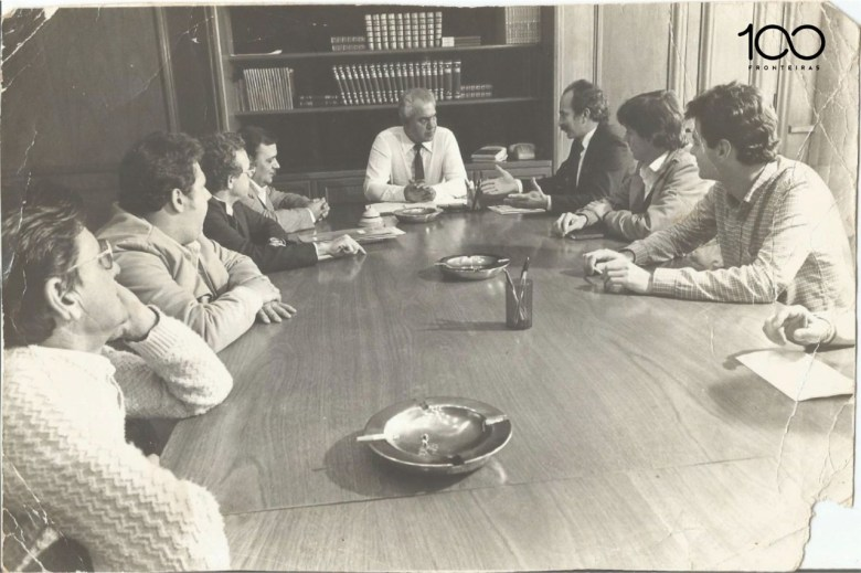reunião da comissão iguaçuense com o governador do estado José Richa para a duplicaçao da BR-469 em Foz