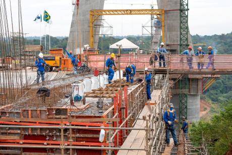 Ponte da Integração alcança 63% de execução