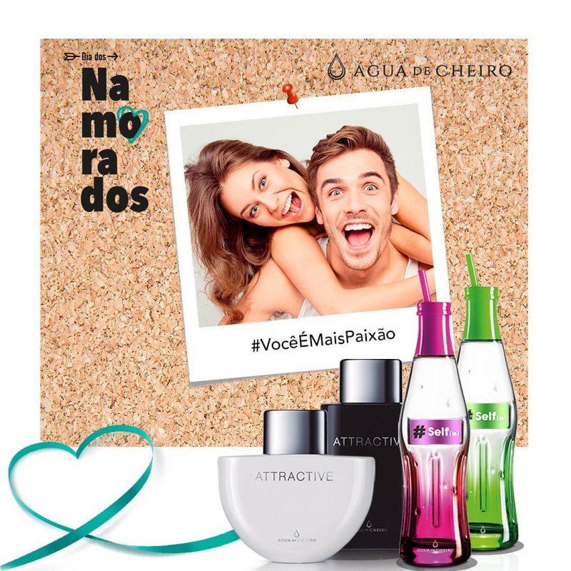 Campanha Dia dos Namorados com presentes da Agua de Cheiro em Foz do Iguaçu