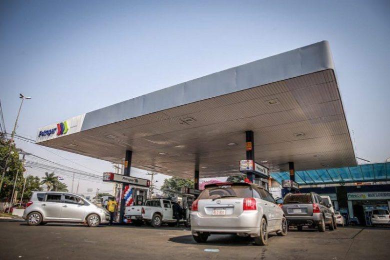 Posto de gasolina no Paraguay.