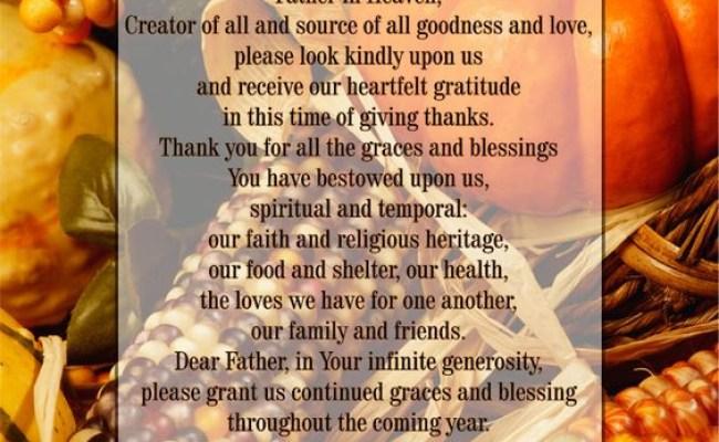 30 Ideas For Thanksgiving Dinner Prayer Best Diet And
