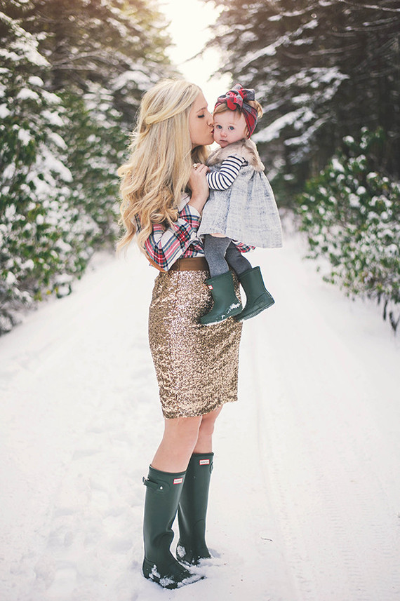 Snowy Forest Family Photos By Connection Photography