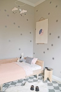 Modern pink and grey girl's room