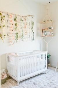 Floral boho girls nursery | Nursery decor ideas | 100 ...