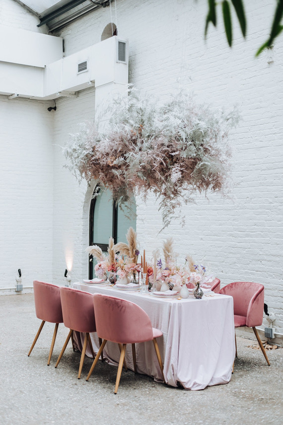 When Your Wedding Decor Is The Perfect Shade Of Rosé
