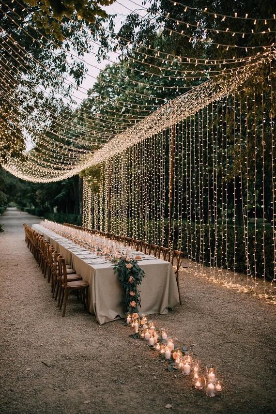 A Dreamy Garden Reception For This Fashion-forward Couple At Palacio Villahermosa In Spain