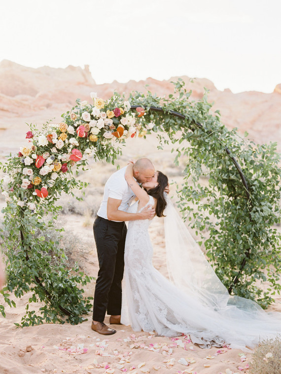 An Intimate Pastel Desert Elopement In Valley Of Fire State Park
