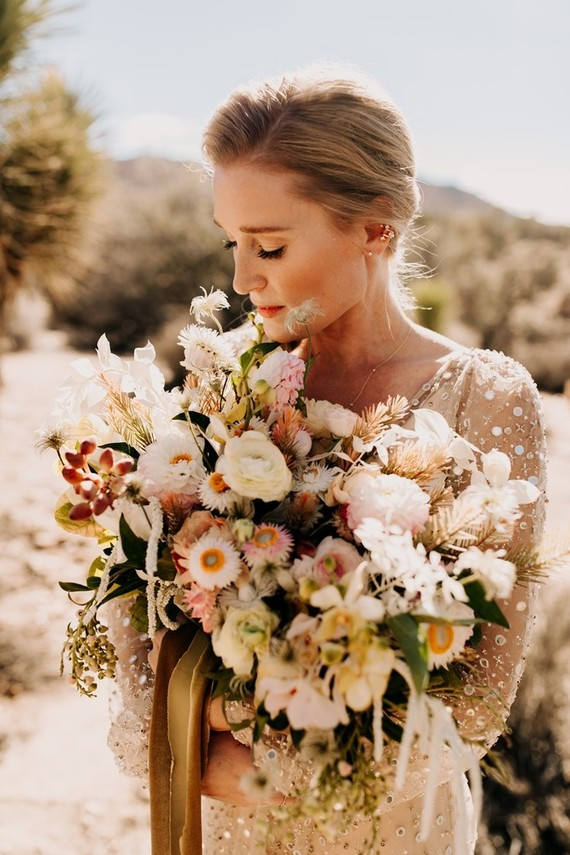 The Chic-est Joshua Tree Wedding With An Absolutely Stunning Dress!