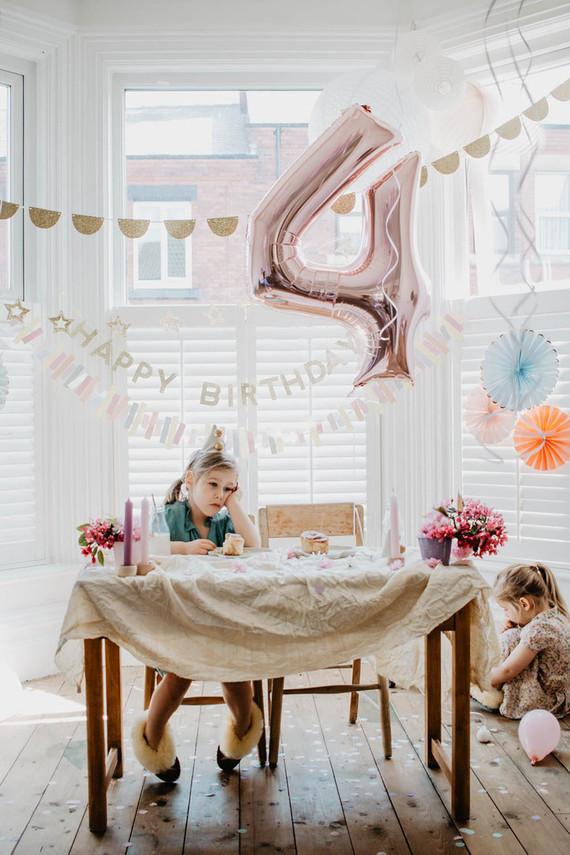 Girls birthday party decor