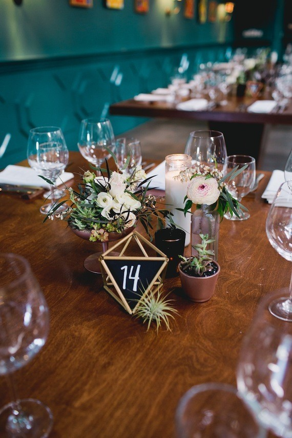 Geometric chalk table numbers  Wedding  Party Ideas  100 Layer Cake