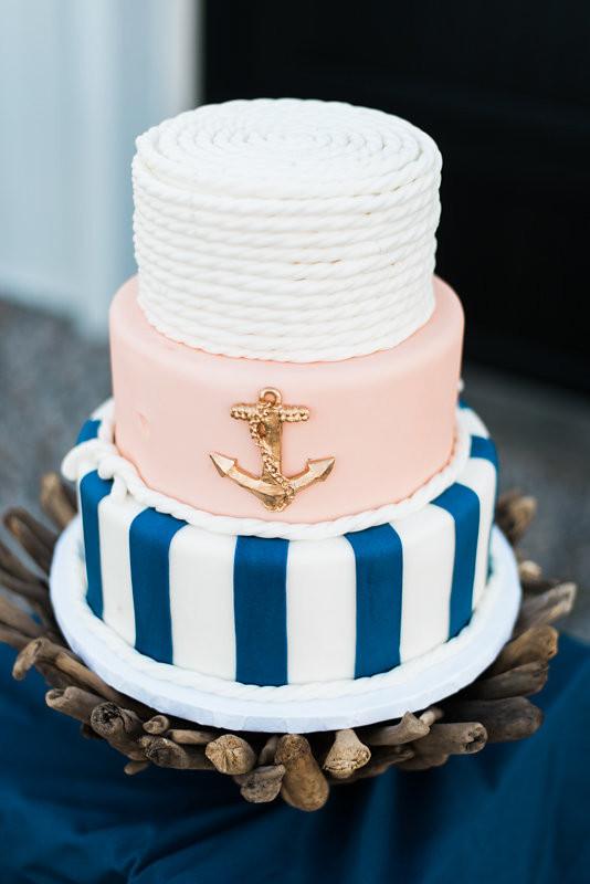 Nautical wedding cake  Wedding  Party Ideas  100 Layer Cake