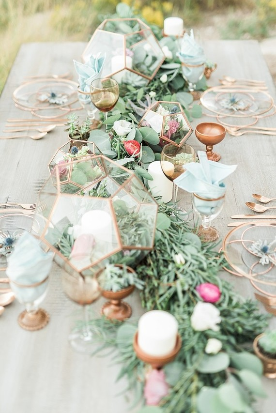 Gold tablescape  Wedding  Party Ideas  100 Layer Cake