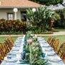 Indigo Dyed Table Linen Wedding Party Ideas 100