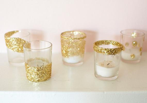 Festive Glitter Votives DIY Projects 100 Layer Cake