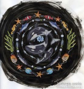 Whale Song Sticker Mandala