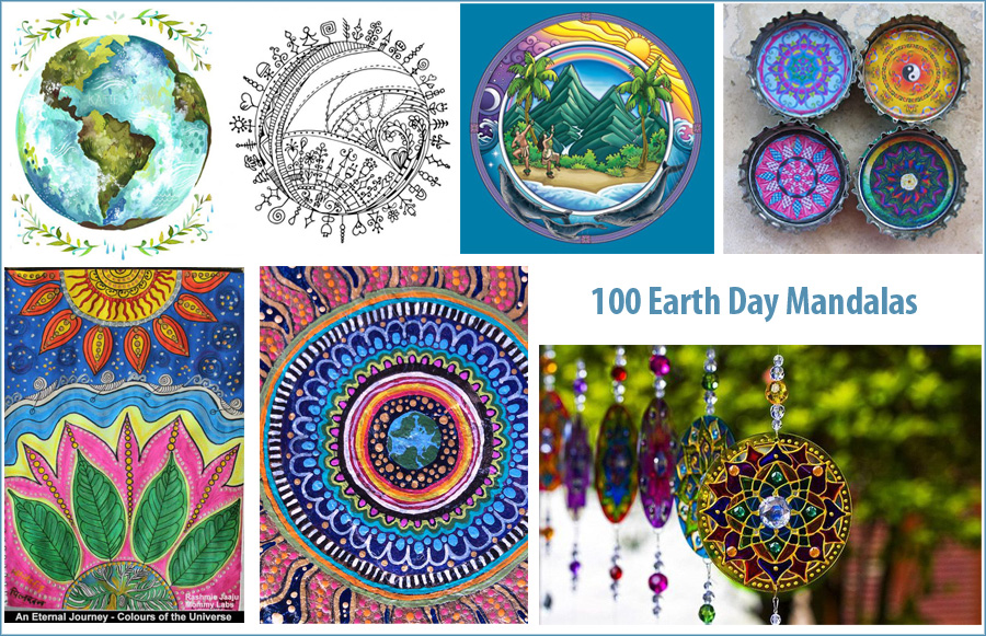 100 Mandalas For Earth Day How To Draw Mandalas And The