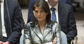WATCH: U.S. AMB NIKKI HALEY Walks Out Of UN Security Council Meeting As Palestinian Rep. Speaks * 100PercentFedUp.com